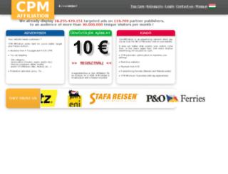 hu.cpmaffiliation.com screenshot