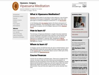 hu.dhamma.org screenshot