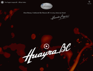 huayrabc.pagani.com screenshot