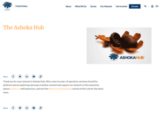 hub.ashoka.org screenshot