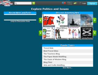 hub.politicsnissues.org screenshot