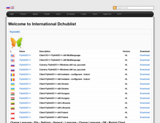 hublist.dchub.net screenshot