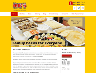 hubs-restaurant.com screenshot