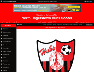hubssoccer.com screenshot