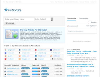 hubstats.com screenshot