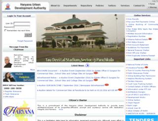 huda.gov.in screenshot
