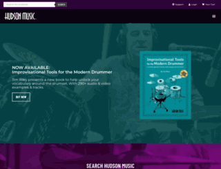 hudsonmusic.com screenshot
