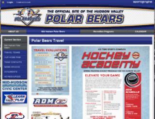 hudsonvalleypolarbears.com screenshot