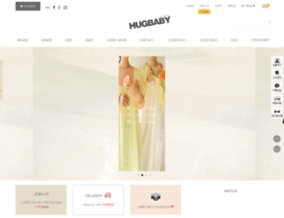 hugbaby.co.kr screenshot
