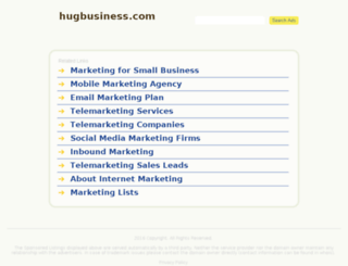 hugbusiness.com screenshot