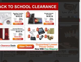 hugeclearancedeals.com screenshot