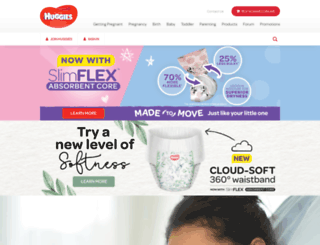 huggies.co.nz screenshot