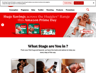 huggies.com.au screenshot