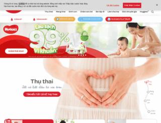 huggies.com.vn screenshot