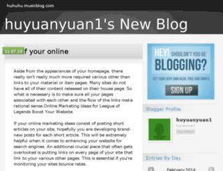 huhuhu.musicblog.com screenshot