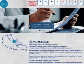 huissiernord.fr screenshot