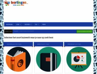 huiswerk.leerlingen.com screenshot