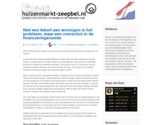 huizenmarkt-zeepbel.nl screenshot