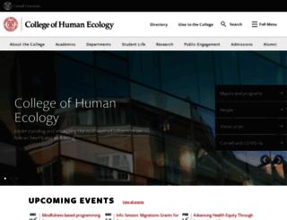 human.cornell.edu screenshot