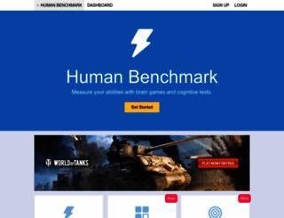 humanbenchmark.com screenshot