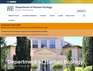 humanecology.ucdavis.edu screenshot