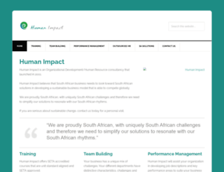 humanimpact.co.za screenshot