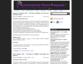 humanitariangrantprogram.blogspot.com screenshot