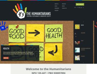 humanitarians.org.za screenshot