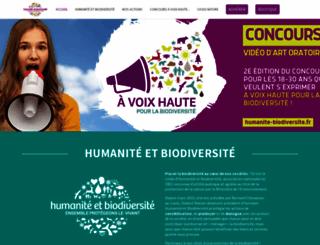 humanite-biodiversite.fr screenshot