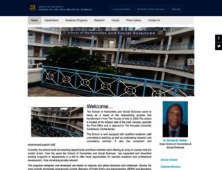humanities.ku.ac.ke screenshot