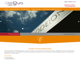humanities.ufs.ac.za screenshot