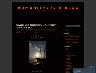 humanity777.wordpress.com screenshot