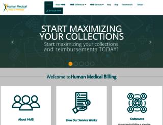humanmedicalbilling.com screenshot