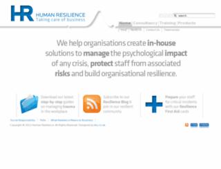 humanresilience.com screenshot