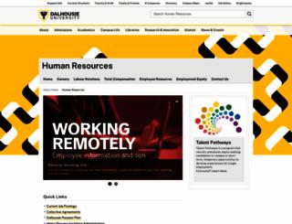 humanresources.dal.ca screenshot