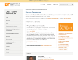 humanresources.tennessee.edu screenshot