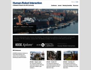 humanrobotinteraction.org screenshot