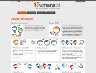 humanstxt.org screenshot