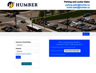 humber.parkadmin.com screenshot