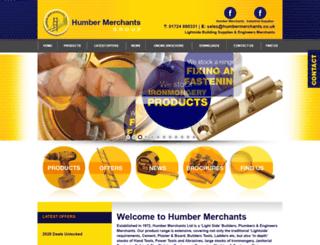 humbermerchants.co.uk screenshot