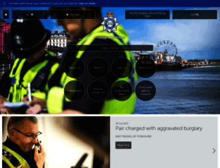 humberside.police.uk screenshot