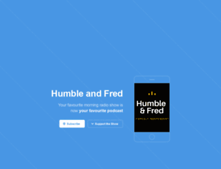 humbleandfredradio.com screenshot