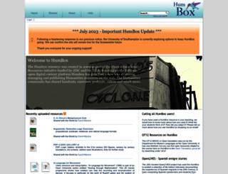 humbox.ac.uk screenshot