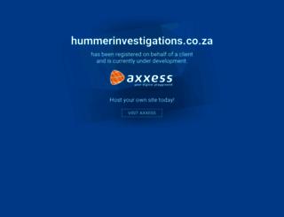hummerinvestigations.co.za screenshot