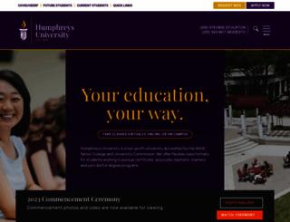 humphreys.edu screenshot