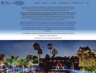 humphreysconcerts.com screenshot