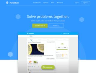 hunchbuzz.com screenshot