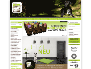 hundecafe-shop.de screenshot