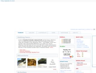 hundredislands.ph screenshot