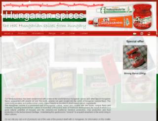 hungarianspice.hu screenshot